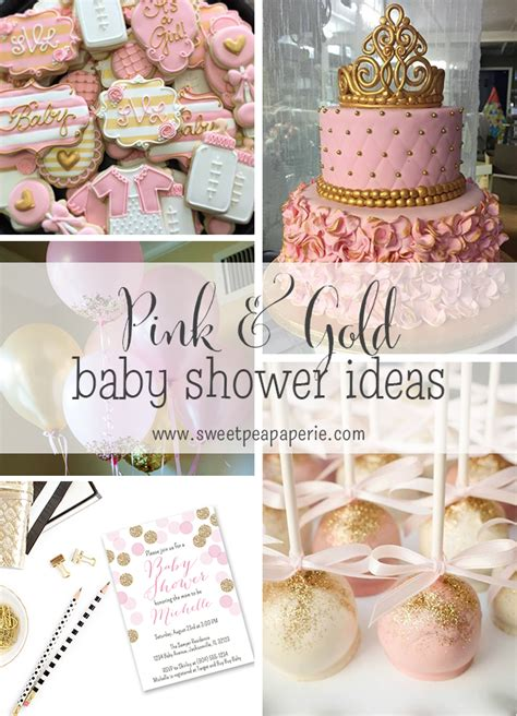 Baby Shower Pink And Gold by Inspirations Pink And Gold Baby Shower Sweet Pea Paperie