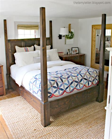 beds with posts ana white dawsen canopy or poster bed queen diy projects
