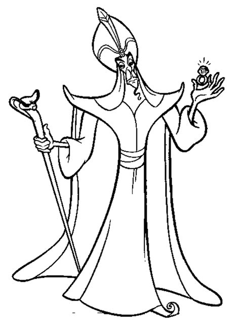 Jafar Coloring Pages Coloring Home Jafar Coloring Pages