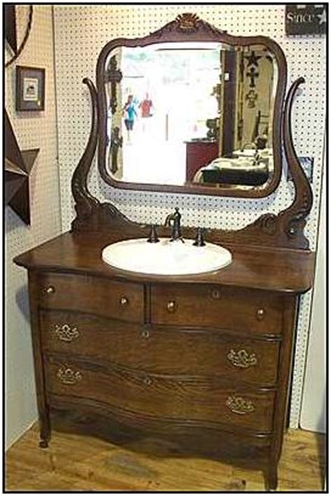 Vintage Dresser Vanity by Antique Dresser With Sink Kitchen Cabinet Value