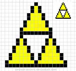zelda triforce pixel art template free by deviant miners