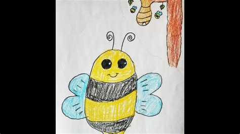 Drawing 8 Year by 8 Year Teaching Quot How To Draw A Honeybee Quot For