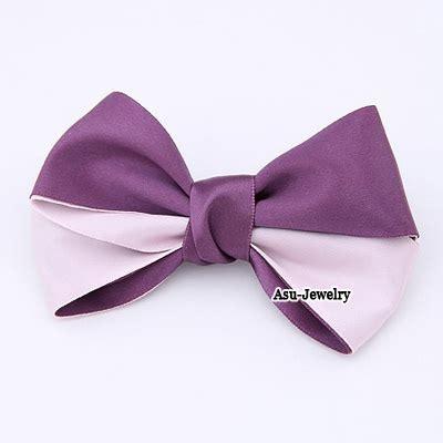 Hair Hoop 6pcs Pink T5a7fa korean personality bow tie ribbon design hair clip
