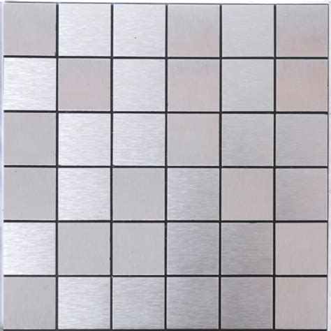 Silver alucobond tile brushed aluminum mosaic brick acp metal tile backsplash cheap aa07