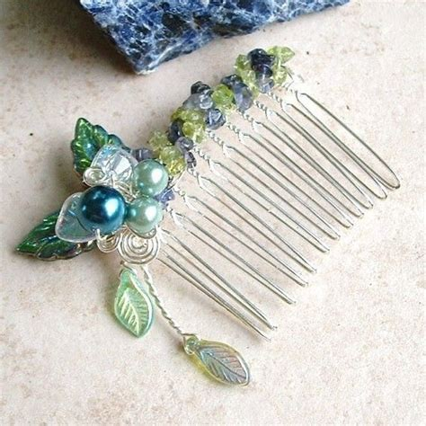 8 Gorgeous Hair Slides by Iolite Peridot And Hair Comb Wedding Inspiration