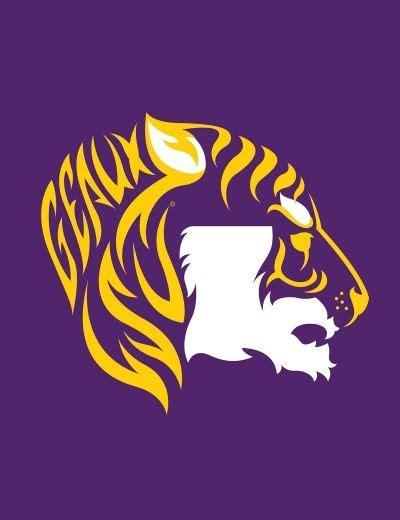 louisiana state colors lsu tiger logo