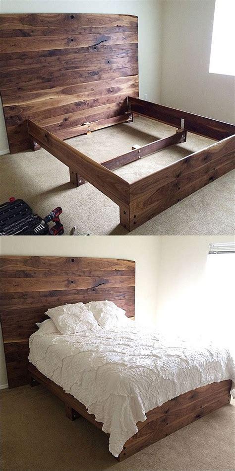 simple diy platform bed  solid walnut  pretty