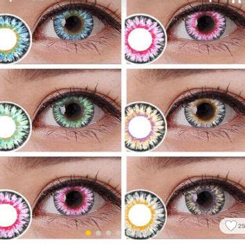 colorful contacts best colored eye contacts lenses products on wanelo