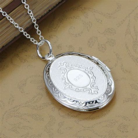 Kalung Rantai Liontin T1505104 p163 rantai fashion perhiasan kalung 925 perak liontin telur berbentuk bingkai foto liontin