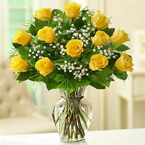 Yellow Roses In A Vase yellow roses vase flowers in delivery send orchids flowers