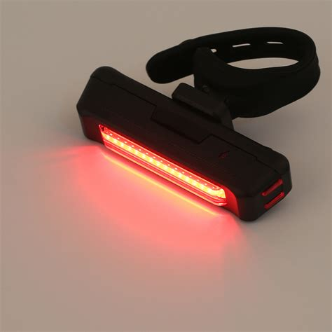 red rear bike light usb rechargeable bike bicycle light rear back safety tail