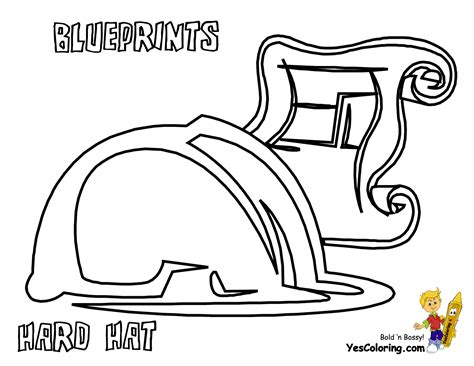 coloring page construction hat skidder coloring pages for boys construction skidder