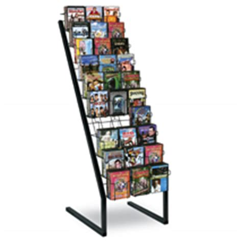 cd rack display cd dvd floor display fixture rack black 30 pocket 19 3 4 quot w