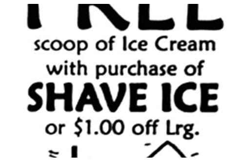 shaved ice coupon code