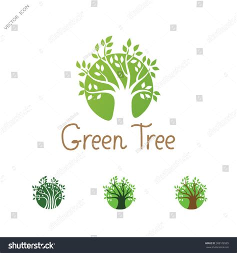 Green Circle Tree Logo Design Template Garden Creative Concept Eco Idea Ecology Icon Stock Ecology Green Icons Tree With Logo Vector Stock Vector Image 51156431