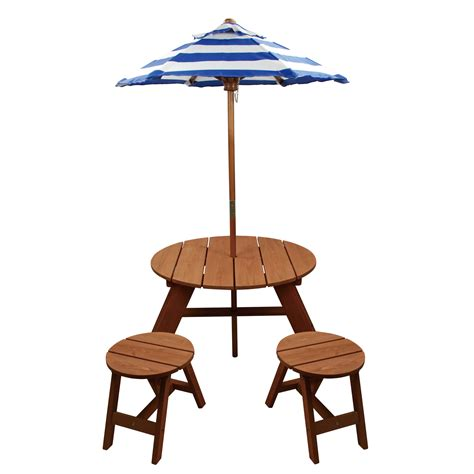 umbrella table and chairs homeware wood table w umbrella and 2 chairs
