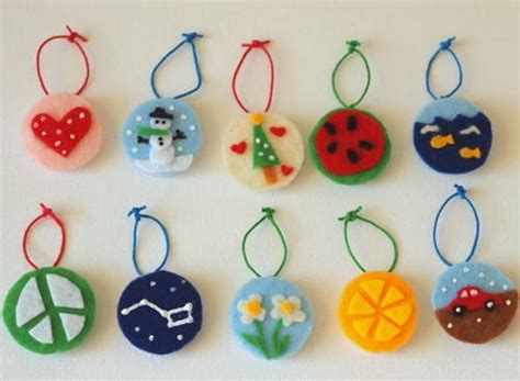 arts and crafts for ornaments felt ornament crafts for