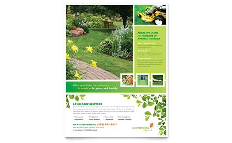 lawn care flyer template lawn mowing service flyer template word publisher