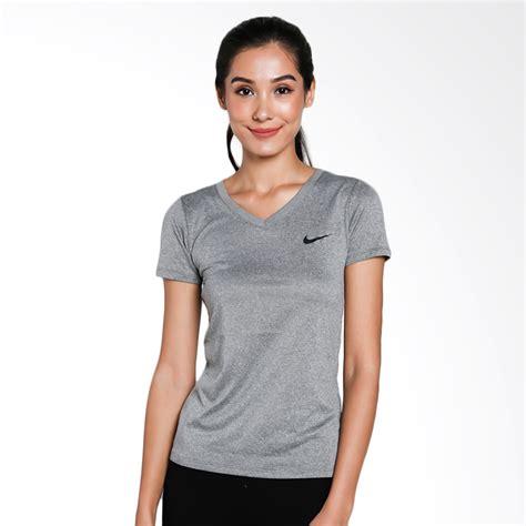 Never Grey Kaos Wanita jual nike as vneck lgd kaos olahraga wanita grey 903716 091