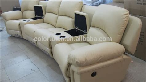sofa cinema italy genuine leather recline vip home cinema sofa theater