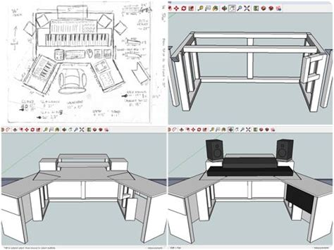 home studio desk plans best 25 recording studio desk ideas on pinterest