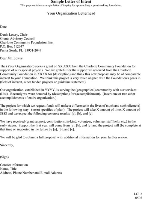 Junior College Letter Of Intent letter of intent sle 5 templates formats in word pdf