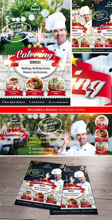Cooking Show Template Catering Services Free Psd Flyer Template