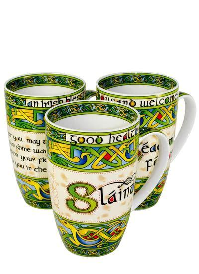 design a mug ireland clara crafts irish celtic design mugs set of 3 blarney