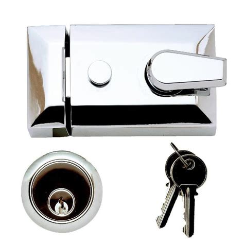 Front Door Deadlocks Traditional Deadlocking Latch Yale Lock Polished Chrome
