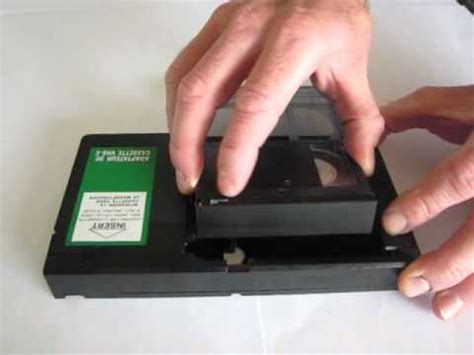 vhs c video cassette adaptor.avi youtube