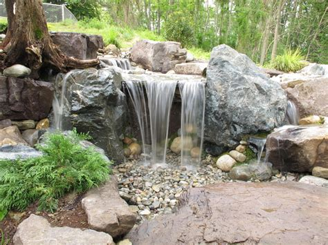 diy pondless waterfalls backyard landscape ideas monmouth