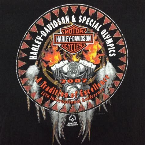 Tshirt Harley Davidson Genuine Dealer Harley Usa harley davidson t shirt med special olympics motorcycle