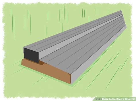How To Install Exterior Door Threshold How To Replace A Door Sill With Pictures Wikihow