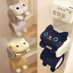 Black White Kitty Toilet Paper Holder cat toilet paper holder roll storage cover black tiger