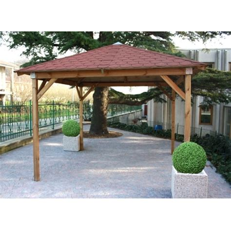 coperture per gazebo in legno gazebo in legno di pino con copertura rigida 350x350