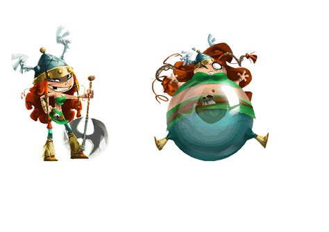 Barbara from Rayman Legends   Body Inflation   Know Your Meme