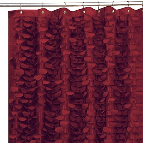 Burgundy Shower Curtain buy gigi burgundy 72 inch x 72 inch fabric shower curtain