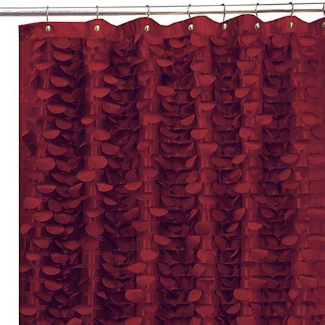 Gigi Burgundy 72 X 72 Fabric Shower Curtain