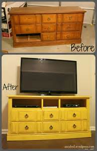 Yellow Buffet Cabinet Turn An Old Dresser Into A Fabulous Tv Stand Diy Amp Crafts