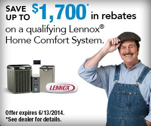 complete comfort systems air ref co inc lennox spring rebate