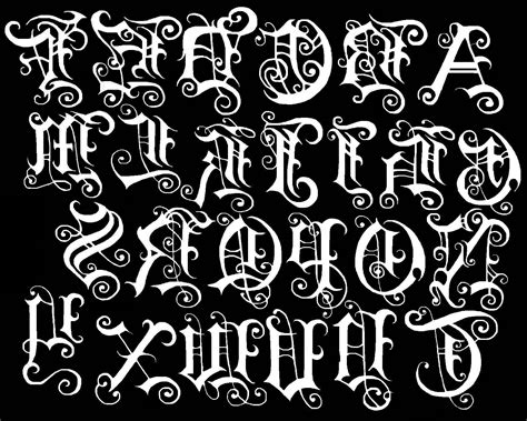 tattoo lettering designer old english letters tattoos 1000 ideas about