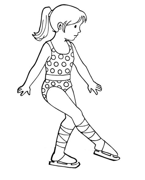 ice skating free printables the girl figure skater coloring page skating crafts