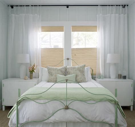 beach cottage curtains bed in front of window cottage bedroom sherwin