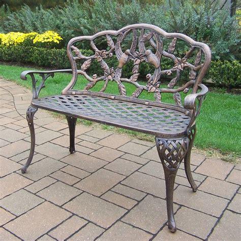 outdoor loveseat bench oakland living hummingbird outdoor loveseat bench the mine