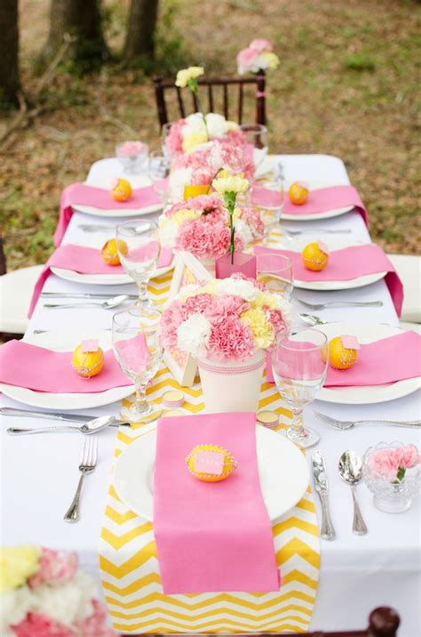 easy pink and yellow bridal shower ideas you recreate yellow bridal showers pink