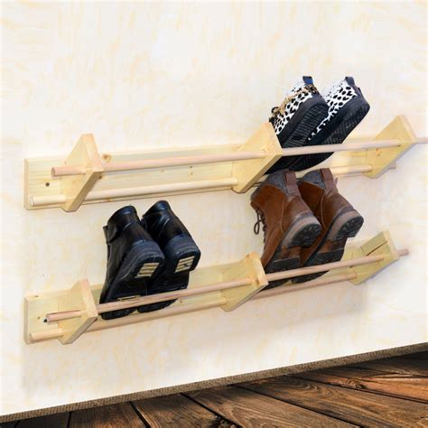 shoe storage wall mounted wall mounted wooden shoe rack hanger shoe organizer custom
