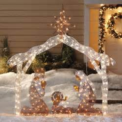 Nativity scene lighted display click for details outdoor nativity