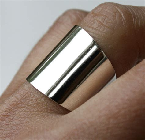 wide sterling silver ring cuff ring large silver ring