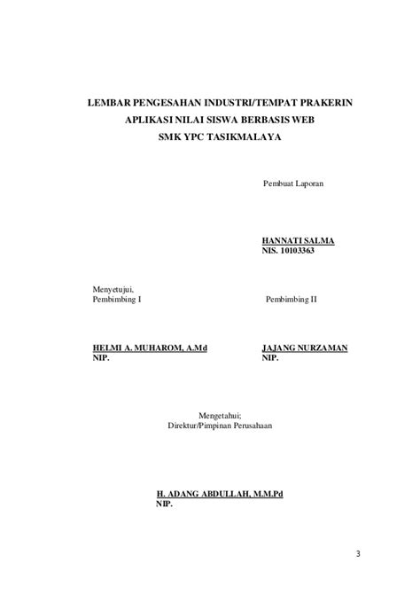 contoh laporan ujian nasional sukriyanto com contoh laporan prakerin smk