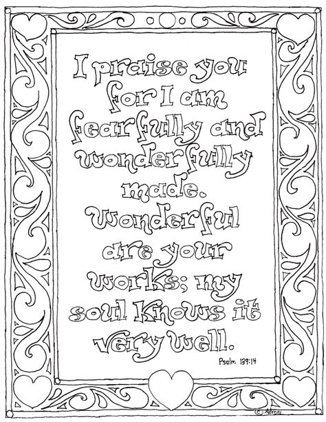 Psalms Coloring Pages coloring pages for by mr adron printable psalm 139